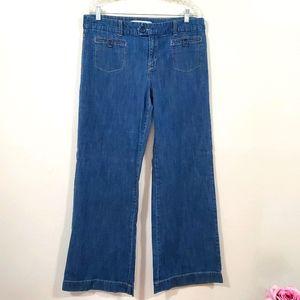 Point Zero Denim Vintage Wide Leg Mariner Jeans 14
